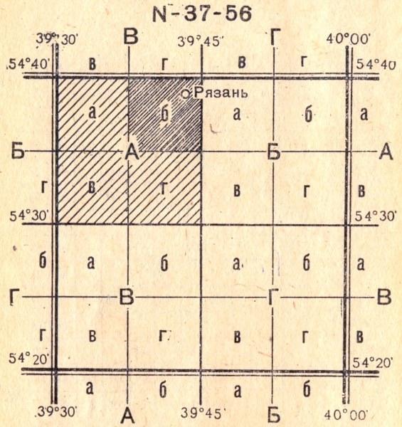 Номенклатура Карты Масштаба 1 1000000